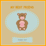 Greeting card with bear Stock Photos