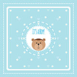 Greeting card with bears and flowers Royalty Free Stock Images