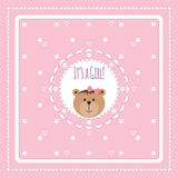 Greeting card with bears and flowers Royalty Free Stock Image