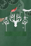 Greeting card with beautiful deer Royalty Free Stock Image