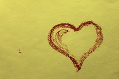 Greeting card with a beautiful heart. On textured paper Royalty Free Stock Photo