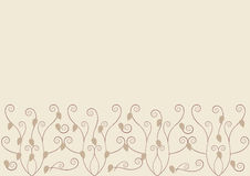 Greeting card. Beautiful romantic floral greeting card vector illustration