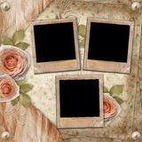 Greeting  card with beautiful roses Royalty Free Stock Image