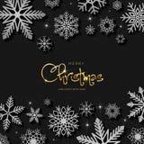 Shiny inscription Merry Christmas