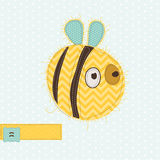 Greeting card with Bee Royalty Free Stock Photos