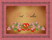 Greeting Card-Best Wishes royalty free illustration