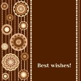 Greeting card - Best wishes Royalty Free Stock Images