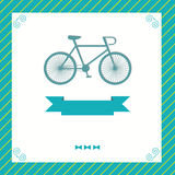 Greeting card with bike Royalty Free Stock Photography
