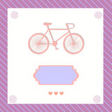 Greeting card with bike Royalty Free Stock Image