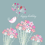 Greeting card with a bird Stock Photography
