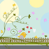 Greeting card with birds Royalty Free Stock Photo