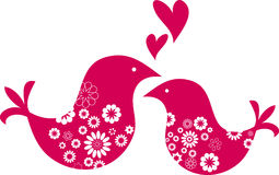 greeting card - birds Valentines day Stock Photography
