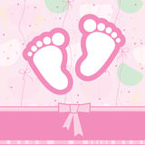 Greeting card birth Royalty Free Stock Photo