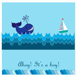 Greeting card for birth of a child Royalty Free Stock Photo
