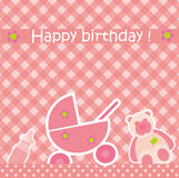 Greeting card with birthday Stock Photography