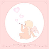 Greeting card birthday baby Royalty Free Stock Images