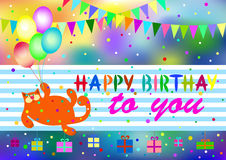 Greeting card birthday Stock Images