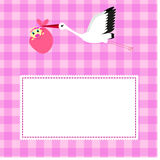 Greeting card for birthday girl Stock Images