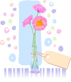 Greeting card. For a Birthday or Mother day royalty free illustration