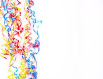 Greeting card blank. Ribbons on a blank card Royalty Free Stock Photo