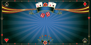 Greeting card blue Casino Stock Photo