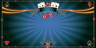 Greeting card blue Casino Stock Photo