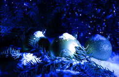 Greeting card Blue Christmas and New Year`s Background