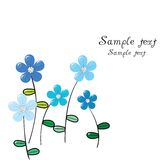 Greeting card with  blue flowers Royalty Free Stock Photography