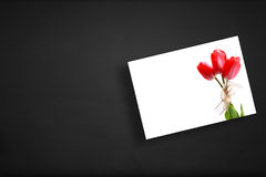 Greeting card on board Royalty Free Stock Images
