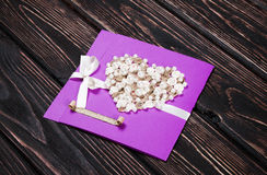 Greeting card on boards Stock Photos
