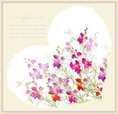 Greeting card with bouquet a flowers. Royalty Free Stock Image