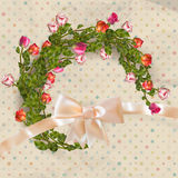 Greeting card with bouquet roses. EPS 10 Royalty Free Stock Photos