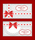Greeting card with bow. Stock Photography