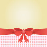 Greeting card with bow, background or brochure template. Vector illustration. Stock Photos