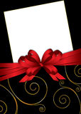 Greeting card with bow and copy space Royalty Free Stock Photos