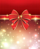 Greeting card with bow 2014 Royalty Free Stock Photo