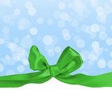 Greeting card with bow Stock Photo