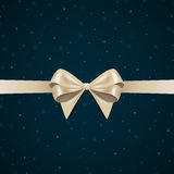 Greeting Card with Bow Stock Photography