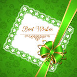 Greeting card with bow Royalty Free Stock Photos