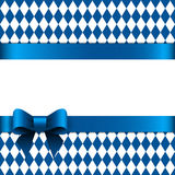 Greeting card with bow Stock Images
