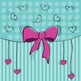 Greeting card with the bow Royalty Free Stock Images