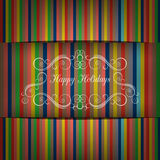 Greeting Card in bright color tones and shadows, vector image. Royalty Free Stock Photos