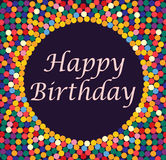 Greeting card with bubbles - happy birthday Stock Image