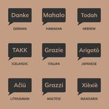 Thank you. Different languages Royalty Free Stock Images