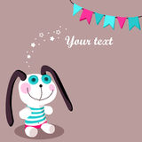 Greeting card with bunny Stock Image