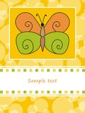 Greeting card with butterfly Stock Images