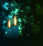 Greeting card with candles for Diwali festival Stock Images