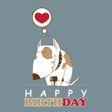 Greeting card with cartoon doggy. Greeting card with cute cartoon doggy royalty free illustration