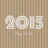 Greeting card for celebrating Happy New Year 2015. Happy New Year celebrations greeting card design with stylish text 2015 on brown background Royalty Free Stock Photos