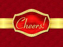Greeting card Cheers Stock Images